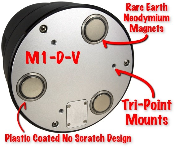 Bottom view magnetic mounting of mobile car ptz camera